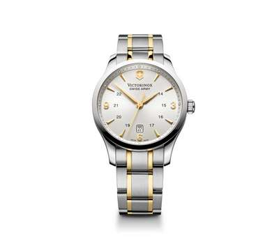 Alliance Watch- Silver Dial Two Tone Stainless Steel Bracelet