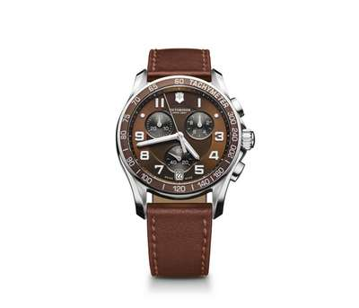 Chrono Classic -Brown Dial with Bezel Brown Leather Strap