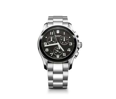 Chrono Classic Black Dial-Black Ceramic Bezel with Stainless Steel Bracelet