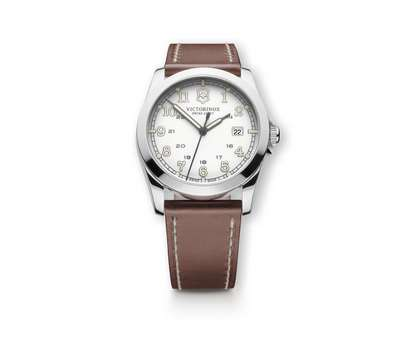 INFANTRY SILVER DIAL BROWN LEATHER STRAP