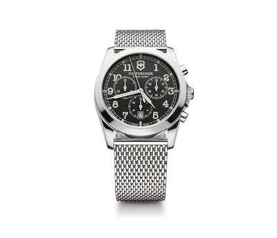INFANTRY CHRONO DARK GREY DIAL MESH STAINLESS STEEL BRACELET