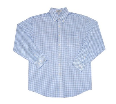 Easy-Care Poplin Box Plaid Shirt