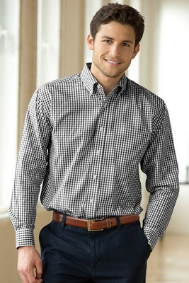 Easy-Care Gingham Check Shirt