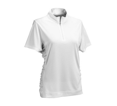 Women's Vansport Omega Ruched Polo