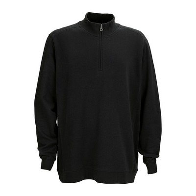 Premium Cotton 1/4-Zip Fleece Pullover