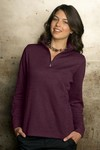 Picture of Women's 1/4-Zip Flat Back Rib Pullover