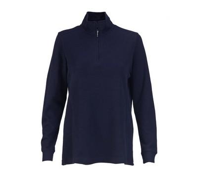 Women's 1/4-Zip Flat Back Rib Pullover