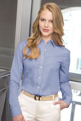 Van Heusen Women's Long Sleeve Button-Up Gingham Check Shirt