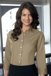 Picture of Van Heusen Women's 3/4 Sleeve Button-Up Dress Twill