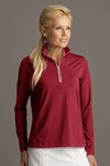 Picture of Greg Norman Women's Play Dry 1/4-Zip Pullover Sweater