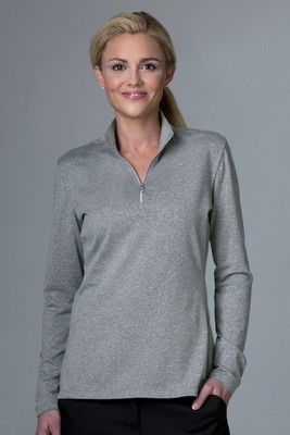 Greg Norman Women's Heathered 1/2-Zip Sweater