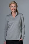 Picture of Greg Norman Women's Heathered 1/2-Zip Sweater