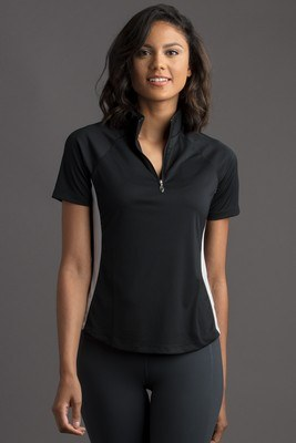 Women's Greg Norman Play Dry® ML75 Racer Mock Neck Polo