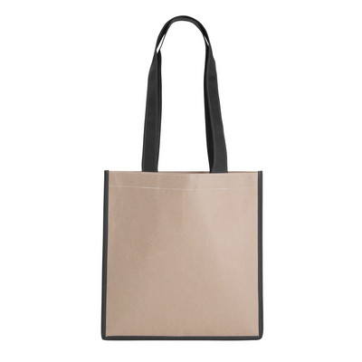 V Natural Kraft Magazine Tote