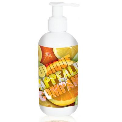 8 oz. White Round Pump Sunscreen
