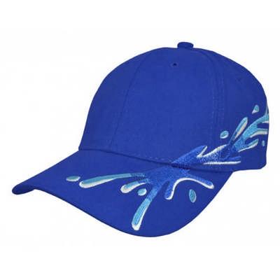 Custom Printed Splash Embroidered Baseball Cap