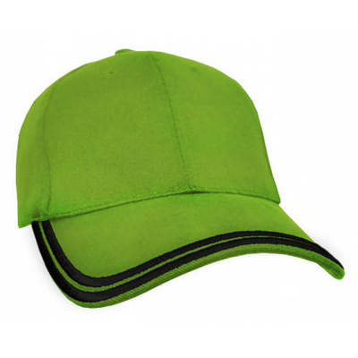 Customizable HBC Double Piping Corporate Baseball Cap