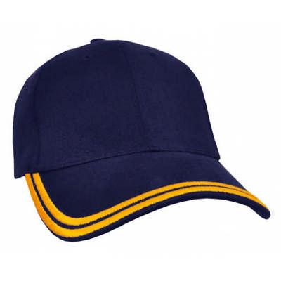 Customizable HBC Double Piping Corporate Baseball Cap