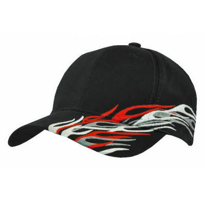 Customizable Embroidered Cyclone Flame Baseball Hat