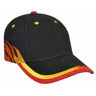 Custom Miller Embroidered Flame Print Baseball Hat