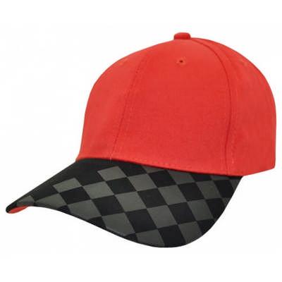 Customizable Logo License Checkerboard Baseball Cap
