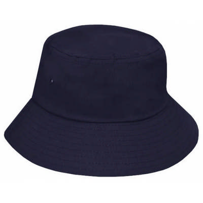 Custom Embroidered Logo Brushed Cotton Bucket Hat