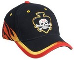Picture of Custom Miller Embroidered Flame Print Baseball Hat