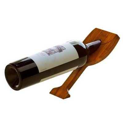 Customisable Glass Shape Gravity Wine Bottle Holder