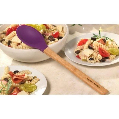 Customisable Bamboo Silicone Spoon - Purple