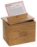 Picture of Zest 4x6 Bamboo Recipe Box