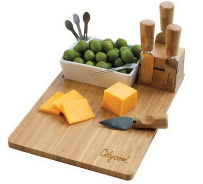 Duo Bamboo Appetizer & Cheese Set